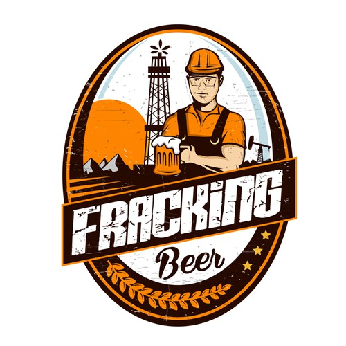 Fracking beer logo