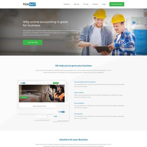 Design a online checklist website