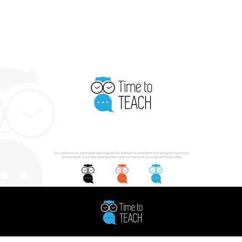 Minimalist Owl for a Teachers' Planning Website