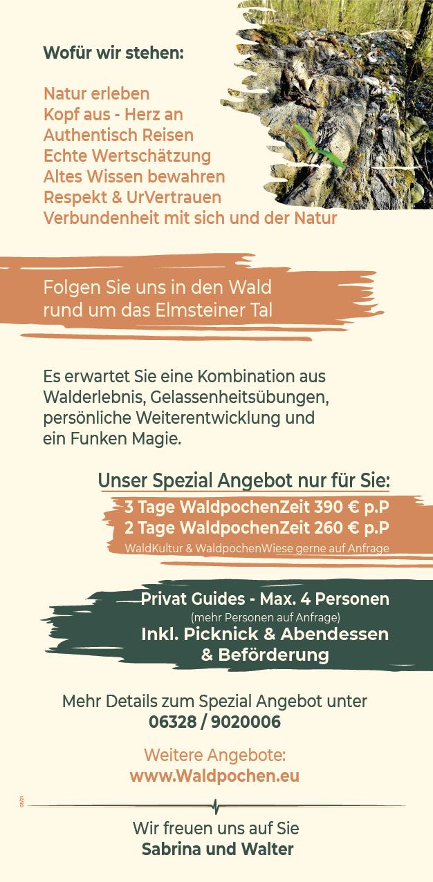 Flyer for Waldpochen