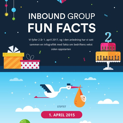 Infographic Fan facts, flat design