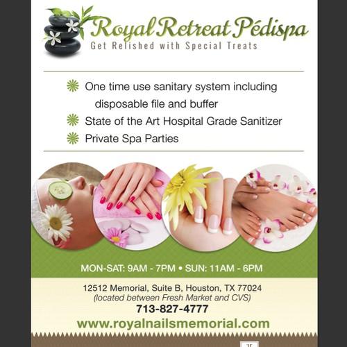 Create an ad for Royal Retreat Pedispa