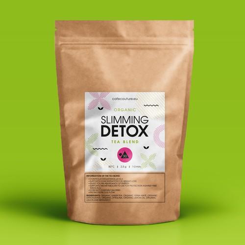 Organic tea blend label for Cafecouture.eu
