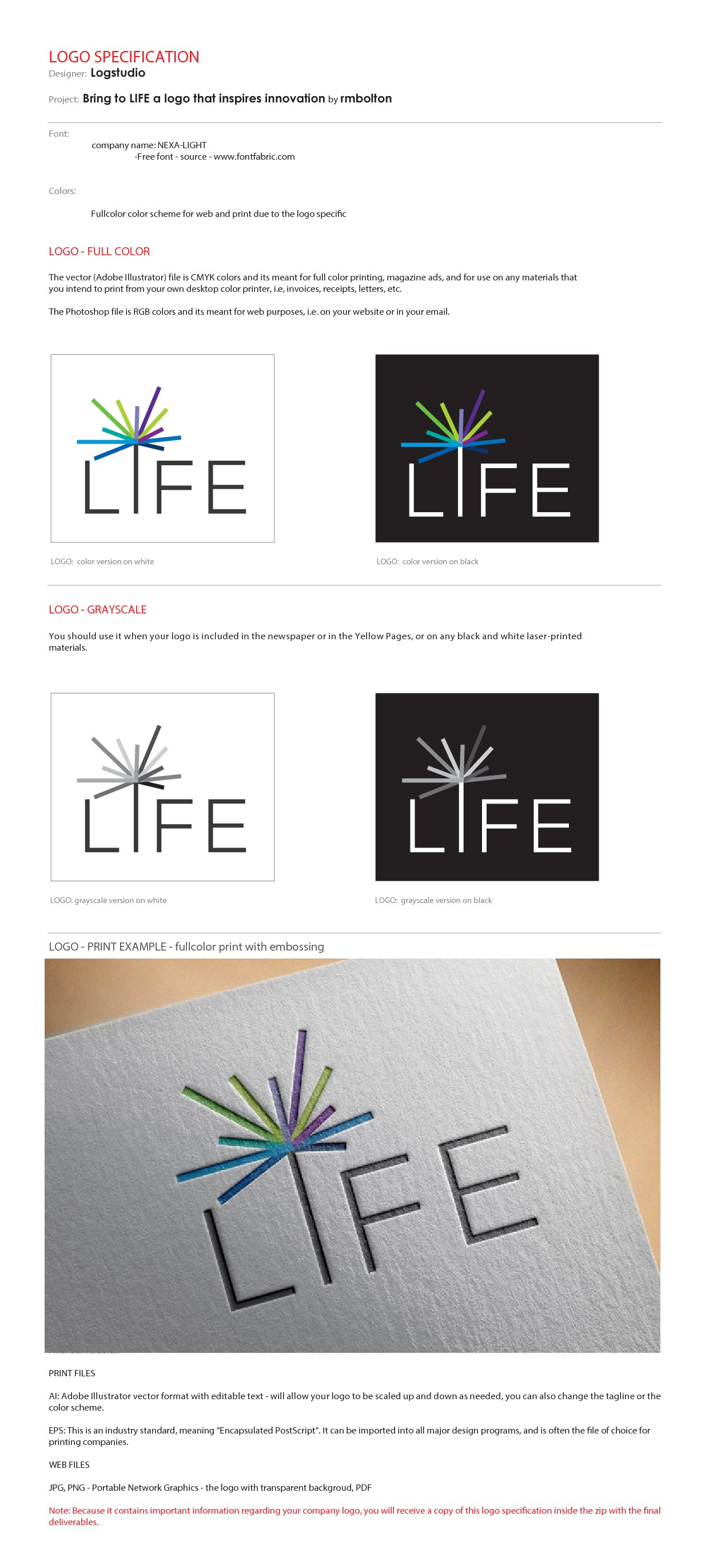 Bring to LIFE a logo that inspires innovation