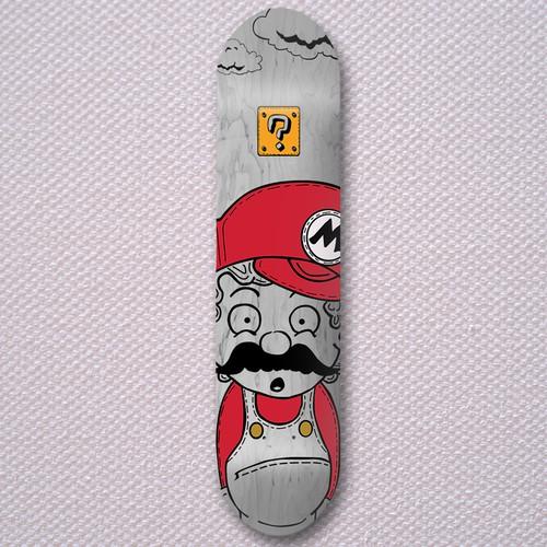 Super Mario Skateboard Design Concept