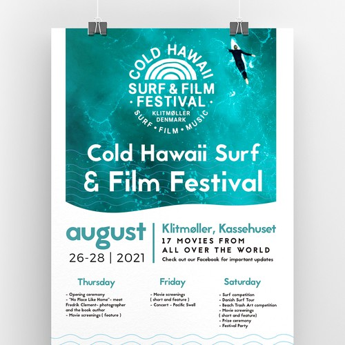 Surf and Film festival Poster Template