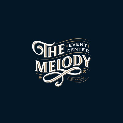 Logo for an event center in Portland