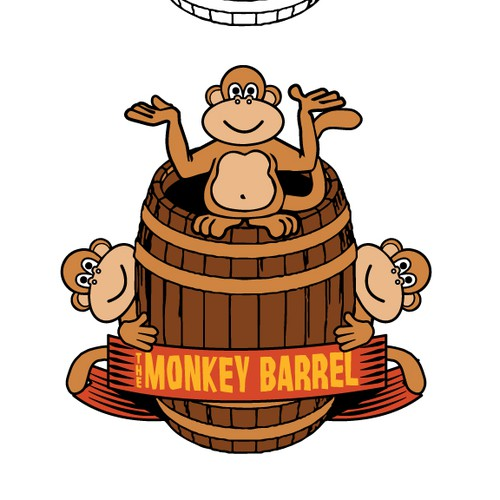 Fun monkey-themed logo for beach house!