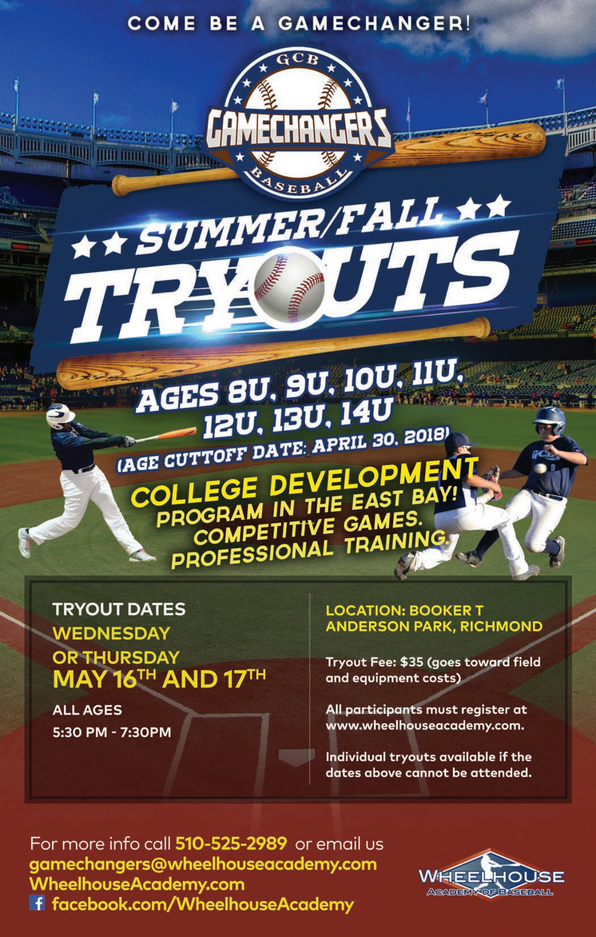 2018 Summer Tryouts