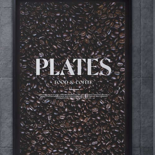 Plates - Food and Coffee Poster Design