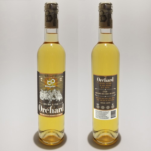 Think MEAD! Blisspoint Meadery label design. Fastest growing segment of the alcohol industry.