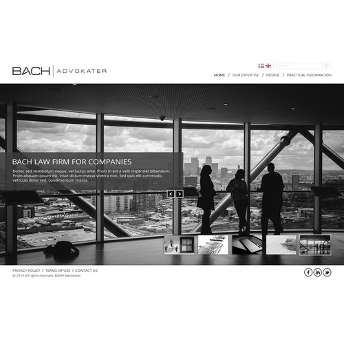 Web site for innovative law firm