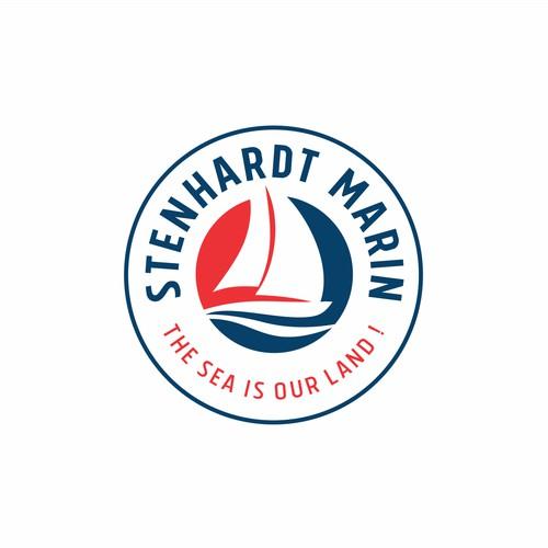 Logo concept for sailing school