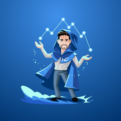 Reporting / Visualization Wizard Mascot Design
