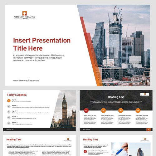 Powerpoint template concept for Ajen Consultancy