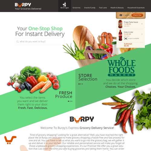 Create the next website design for Burpy Inc