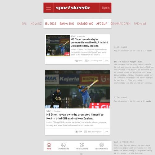 Sportskeeda Mobile Web