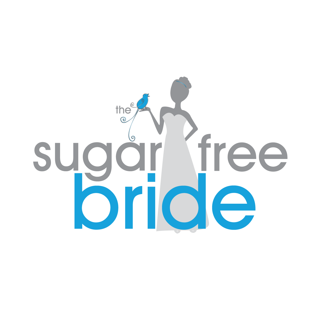 the sugar free bride seeks modern whimsical logo