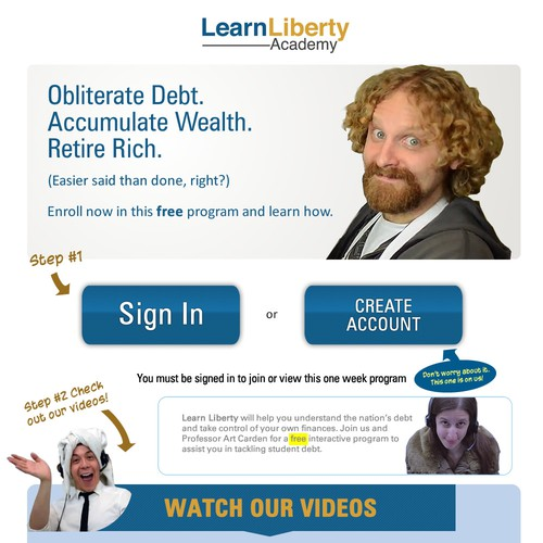Design a Landing Page to Help Students Take Control of their Debt