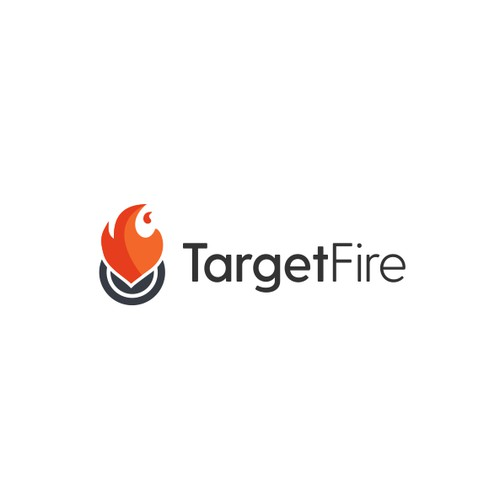 Simple logo for target fire