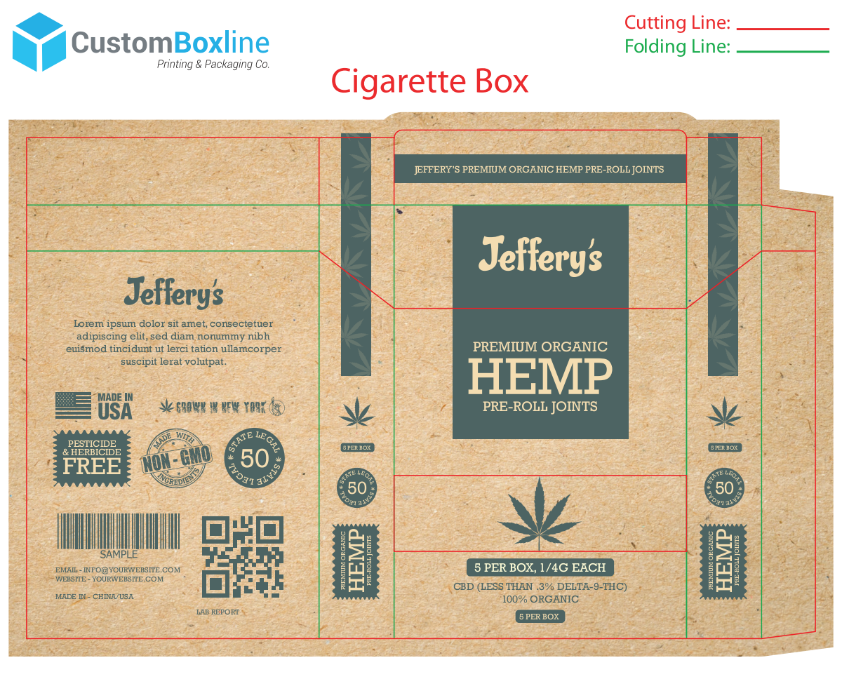 updated size for the box. apply design to it