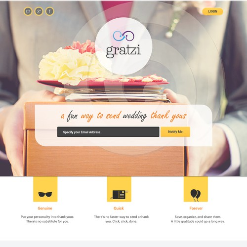 Help Gratzi with a new landing page