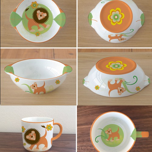 design of child tableware