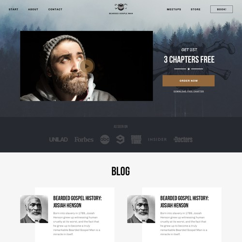Bearded man website