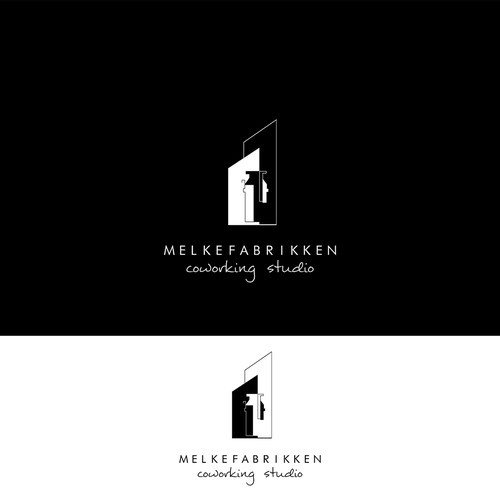 CH wanted a clean but smart logo which implies that the space is offered in a former milk factory.