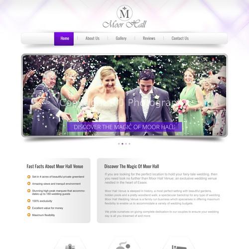 DESIGN OF EXCLUSIVE WEDDING VENUE WEBSITE