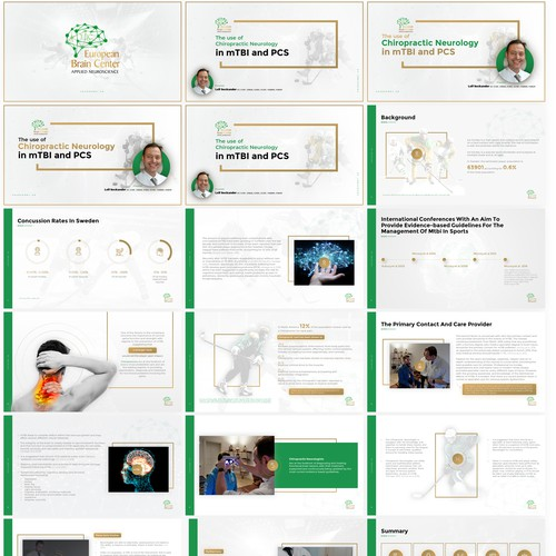 Luxury and Clean PowerPoint Template for EBC
