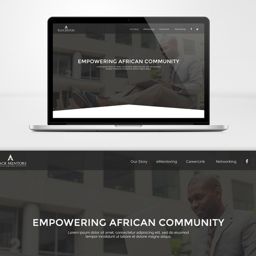 Modern and bold design for black social website