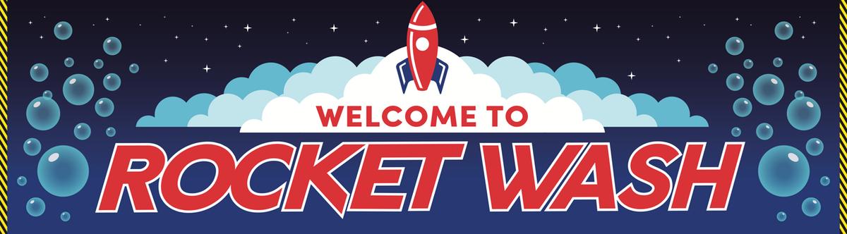 Rocket Wash Signage