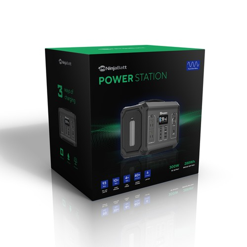 Power Station Box Packaging Design