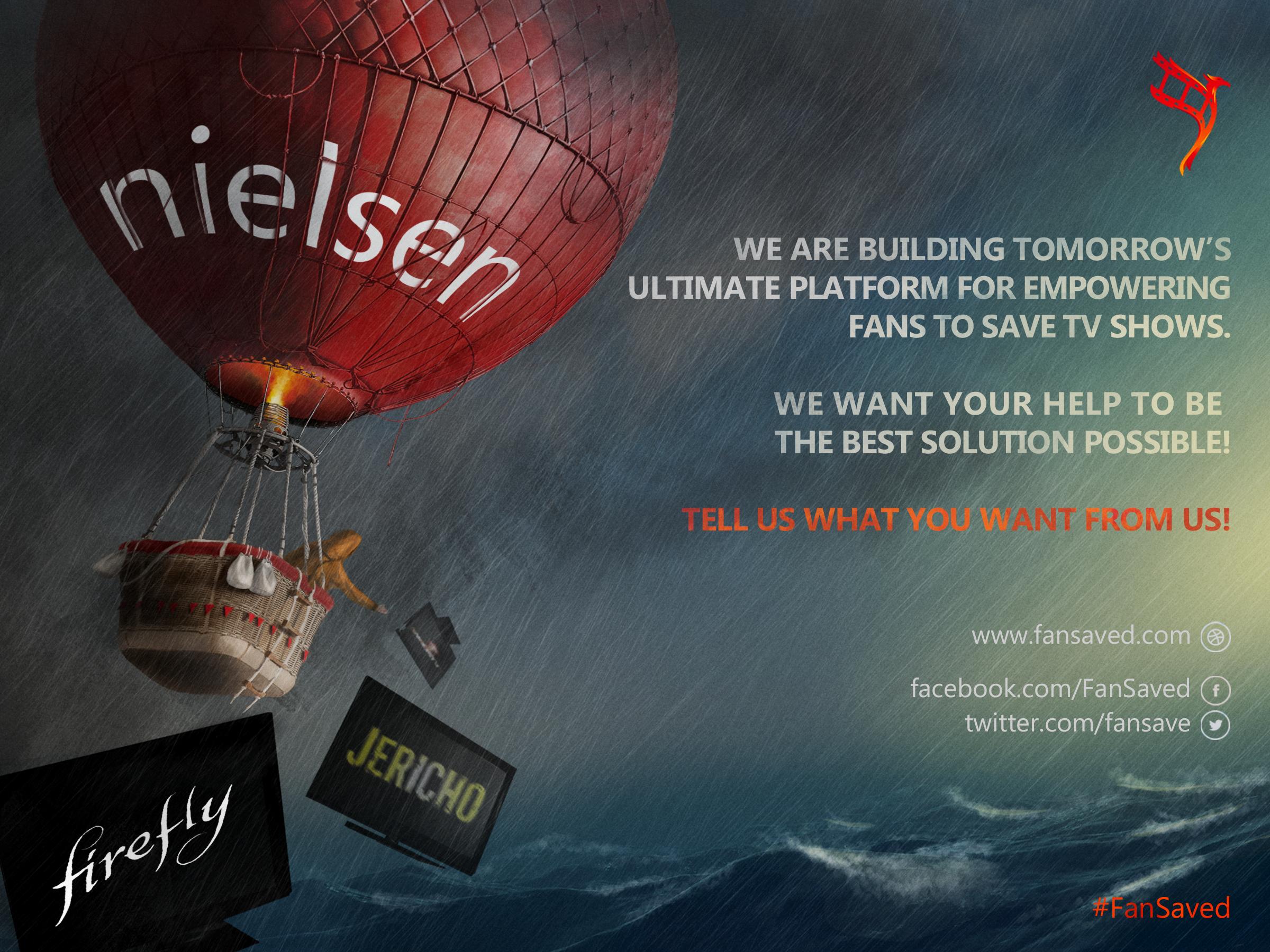 Create a kick-ass online poster for saving cancelled tv series