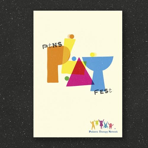 Playful but stylish poster