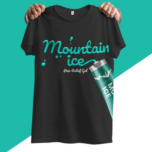 T Shirt Design for Mountain Ice