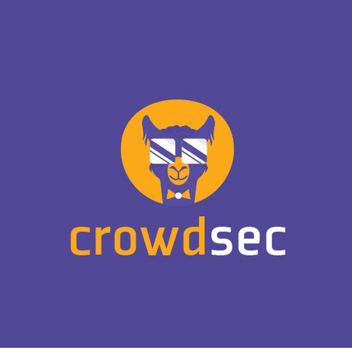 Fun and unique logo design for crowdsec