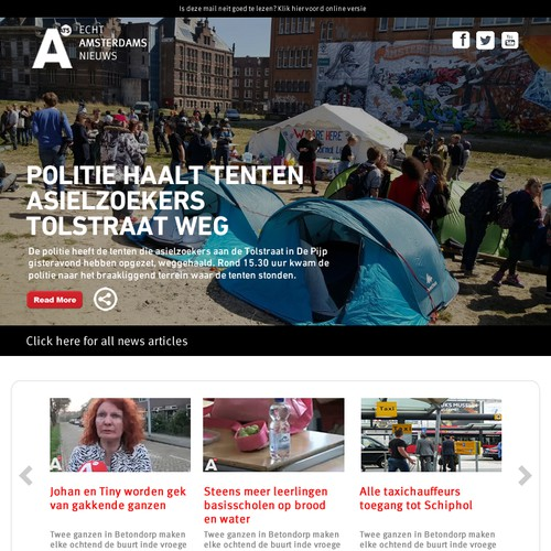 E-mail newsletter for Amsterdam local news media company AT5