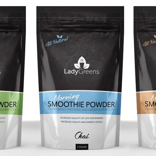 Minimal Packaging For Woman's Protein Powder