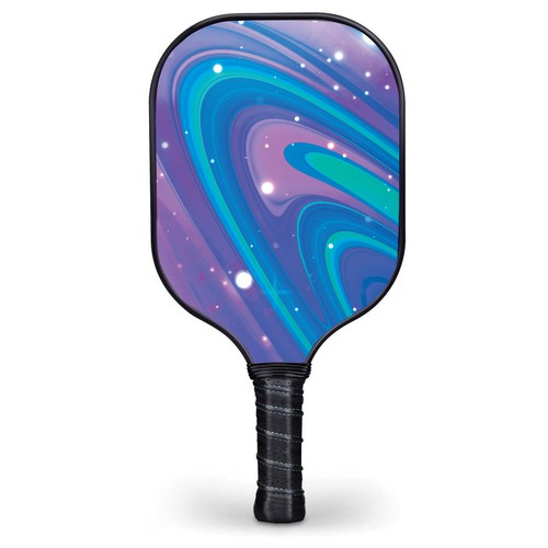 Splash of color on a pickleball paddle face!