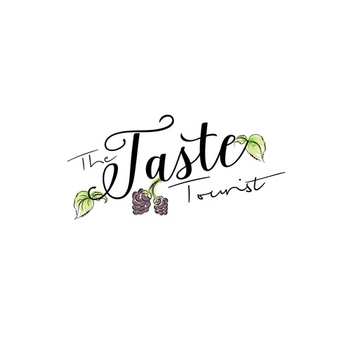 Logo for a travel and food blog
