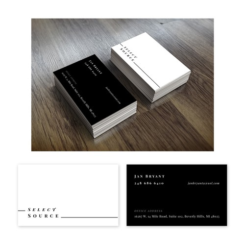 Business Card Design for Select Source Company