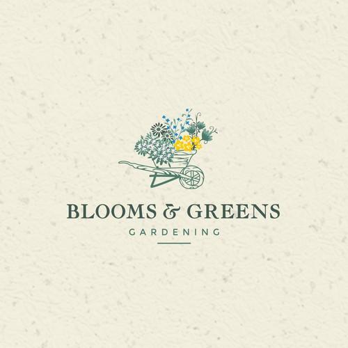 Flowers inspired, gardening logo