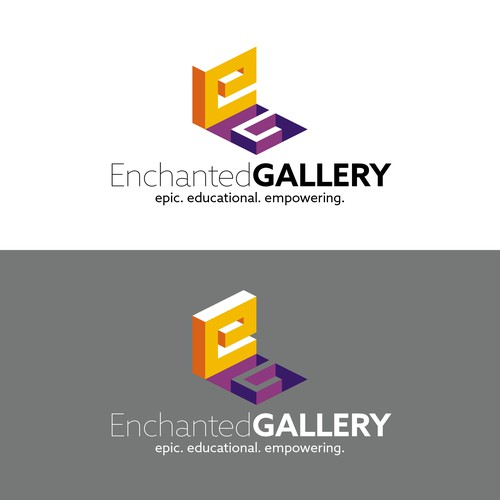 Simple logo for an augmented reality (AR) app-related education company