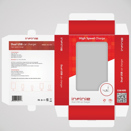 Create an outstanding and cool package design for power banks&chargers[used for smart phones,tablets