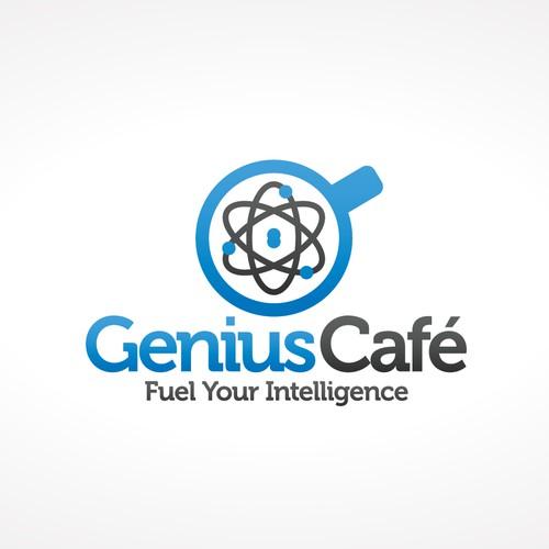 Genius Café Logo Design
