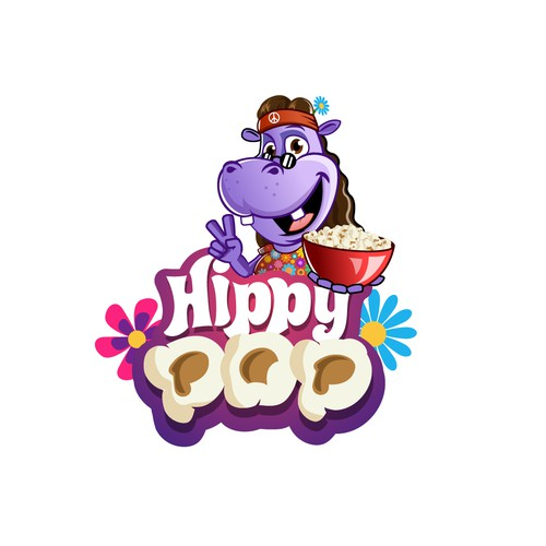 Logo for hippie popcorn
