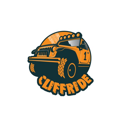 Cliffride logo design