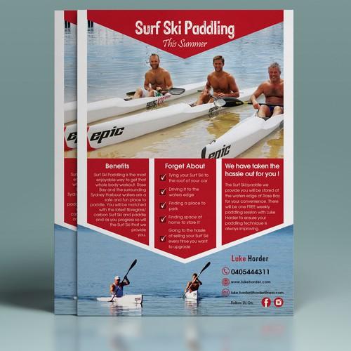 Surf Ski Padding Flyer
